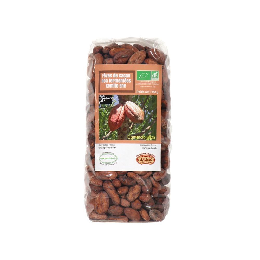 Fèves de cacao bio non fermentées
