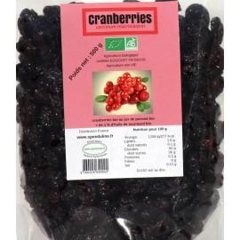 Cranberries Bio - sachet 500g