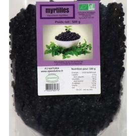 Myrtilles sauvages séchées Bio - sachet 500g