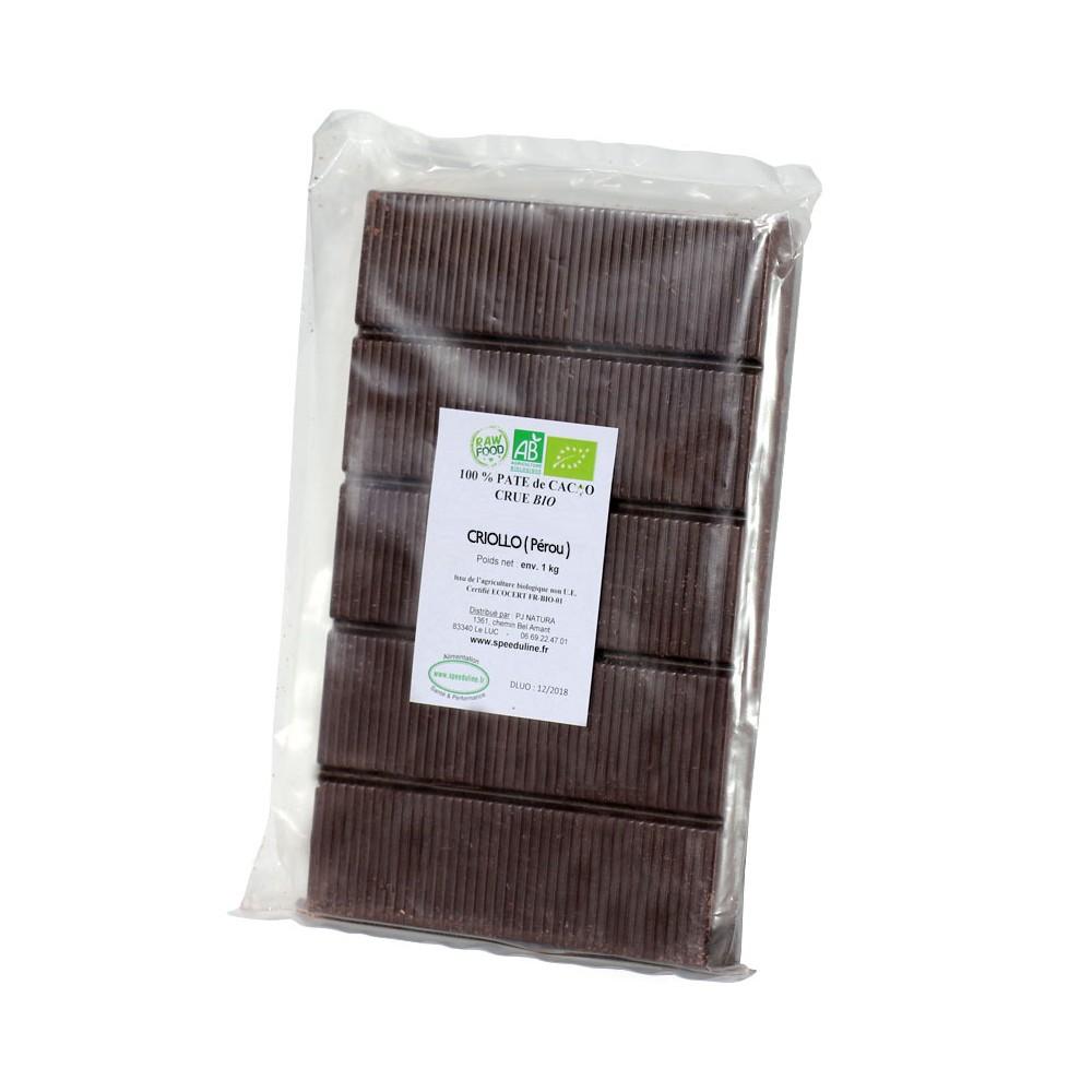 Bloc pâte de cacao 100% - 900 gr
