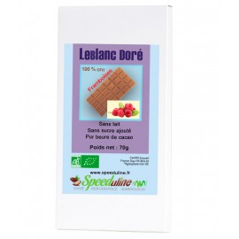 Chocolat LeBlanc Doré cru Framboises Bio